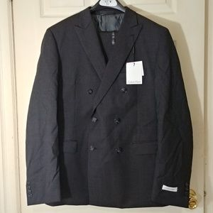 NWT 2 Calvin Klein 100% Wool Suit